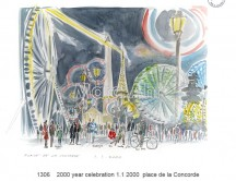 C images locations_france - 1306    2000 year celebration 1.1 2000  place de la Concorde