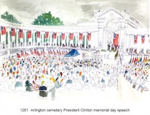 C images locations_washington - 1261  Arlington cemetery President Clinton memorial day speech