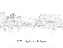 C images panoramas - 1223     Kyoto temple Japan