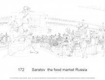 C images panoramas - 172       Saratov  the food market Russia