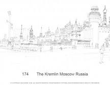 C images panoramas - 174       The Kremlin Moscow Russia