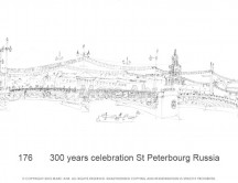 C images panoramas - 176       300 years celebration St Peterbourg Russia