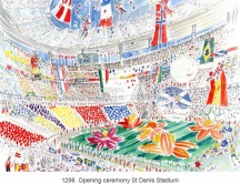 C images world cup soccer 1998 - 1298  Opening ceremony St Denis Stadium